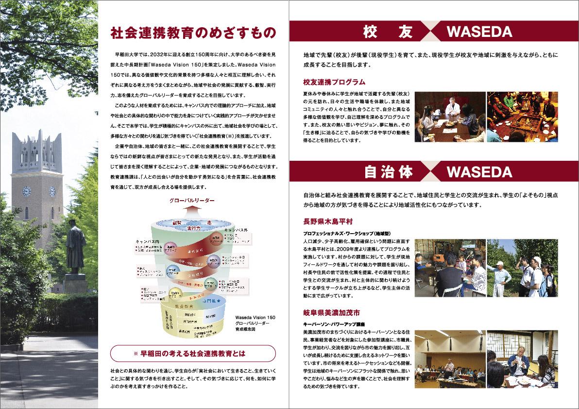 早稲田大学 教務部教育連携課 P02-03